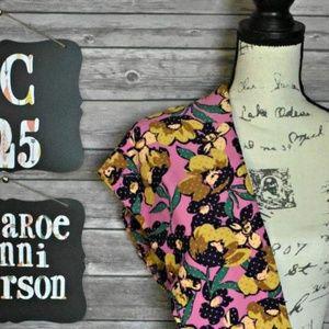 4b534d2b5e08 LuLaRoe Pants | Chevron Floral One Size Leggings | Poshmark